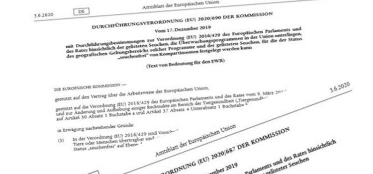 Neue Tiergesundheits-Gesetzgebung der EU ab 21.04.2021